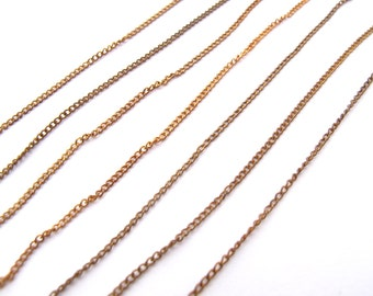 Vintage Brass Curb Chain - Soldered (6 Feet) (CP240 -A)
