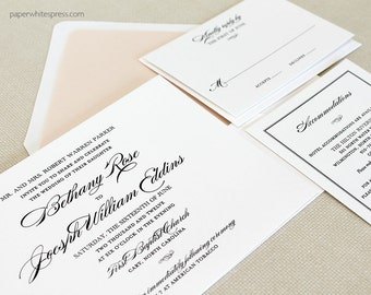 Traditional Wedding Invitations, Classic Wedding Invitations, Timeless Wedding Invitations, Script Wedding Invitations, Classic Script