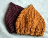 Organic Cotton and  Wool Gnome Hat - Earthy Orange