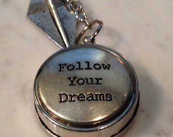 Compass Keychain Working Compass Follow Your Dreams Graduation Gift