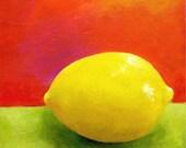 Still Life Painting - Lemon Painting - Fruit Still Life - Original Art - Acrylic Painting