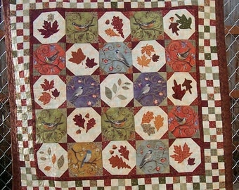 Birds in Autumn Patchwork Quilt