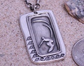 surfing jewelry sterling silver surfer necklace father's day gift idea, gift for dad by zulasurfing now 40% off