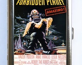 Forbidden Planet Robot Cigarette Case Wallet Business Card Holder sci-fi b-movie pin up