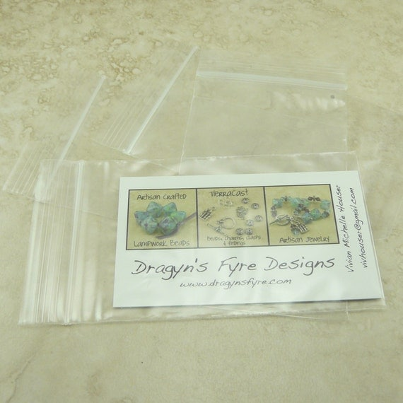 2 5 x 4 Business Card Size Zip Lock Baggies Baggy