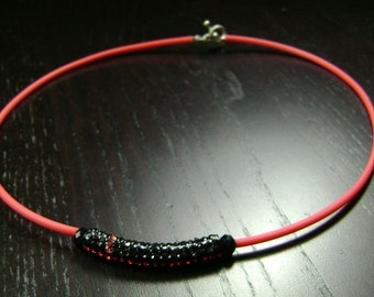 CLEARANCE !!! Louisville Cardinals / NIU Huskies / Texas Tech Red Raiders / San Diego St Aztecs Black and Red Crystal Bar Necklace