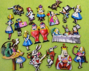 Big Alice in Wonderland Wood Cut Collection