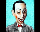 "Print 8x10"" - I know you are but what am I - Pee Wee Herman Portrait Pop Art Paul Reubens Doll Toy Funny Cute Show Vintage 80s 1980s Lowbrow"