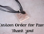 CUSTOM ORDER for PAM Japanese Geisha beautiful made of polymer clay and resin with organza ribbon necklace