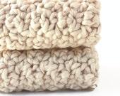 Natural Organic Crochet Washcloths Cotton Dishcloths