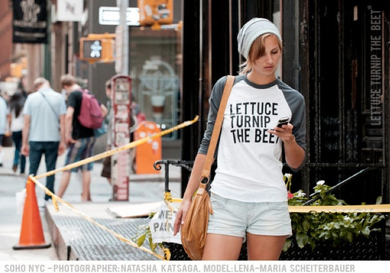lettuce turnip the beet ® trademark brand OFFICIAL SITE - grey baseball jersey with classic logo - as seen on MTV's Snack-Off
