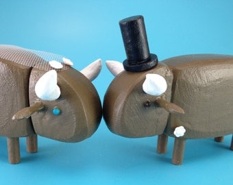 Buffalo Wedding Cake Toppers | Custom Wedding Cake Toppers | Gay Wedding | Buffalo Wedding | Bride and Groom Buffalo