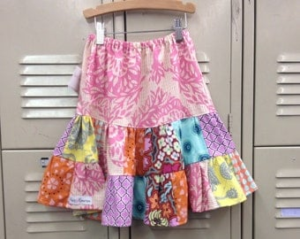 Toddler Girl Skirt - baby outfit- Girl Clothes- Kids Clothes- tween Clothing- girl spring outfit- yellow-pink-mint- boho kids clothes