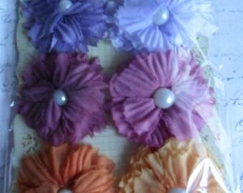 Pretty Prima Flowers De Soie Collection Bistro set of 6