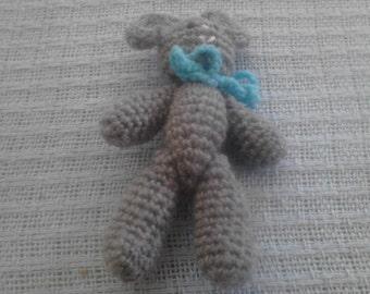 4in Gray Teddy Bear