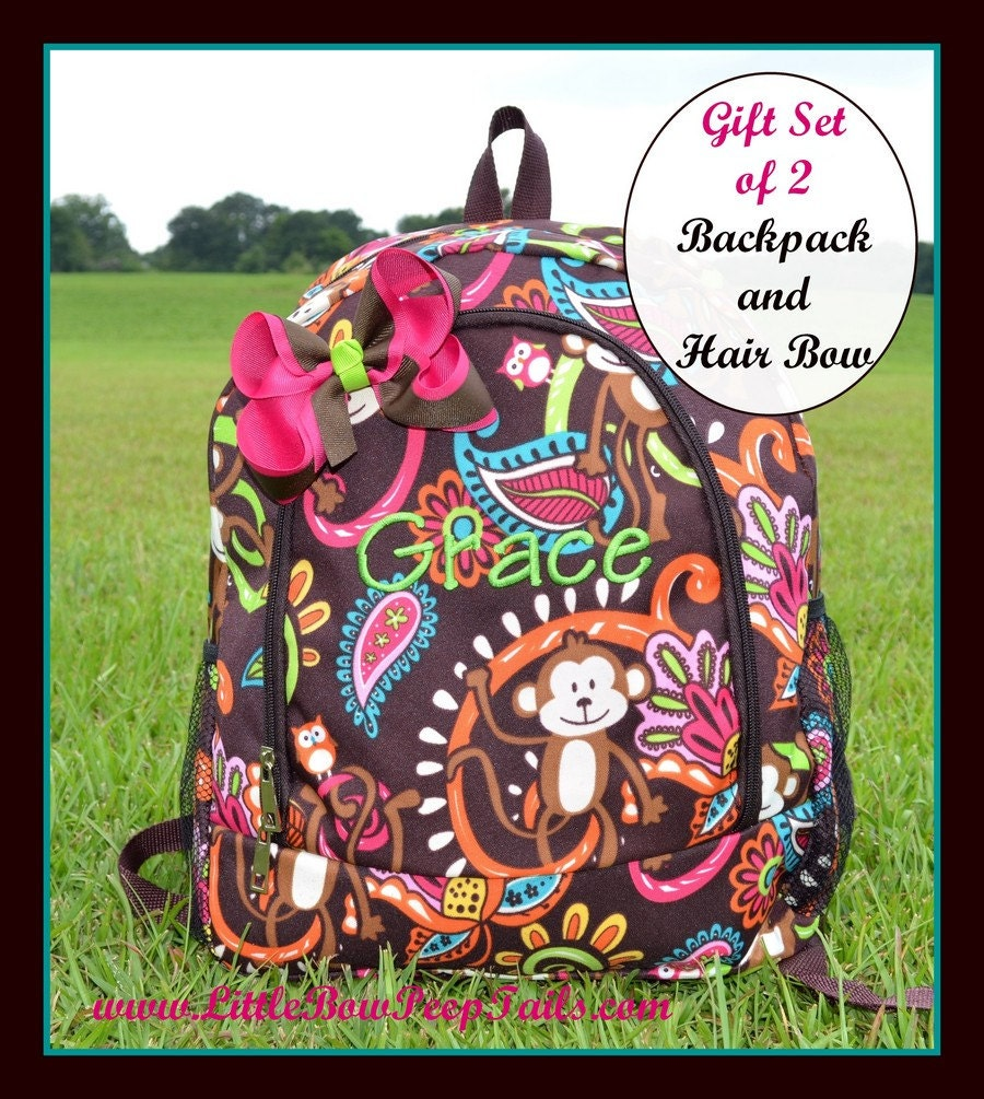 Popular items for monogram backpack on Etsy