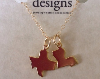Two State Necklace, 2 Charm Necklace, Best Friend, Long Distance, Long Distance Relationship, Friendship Necklace, State Charm Necklace