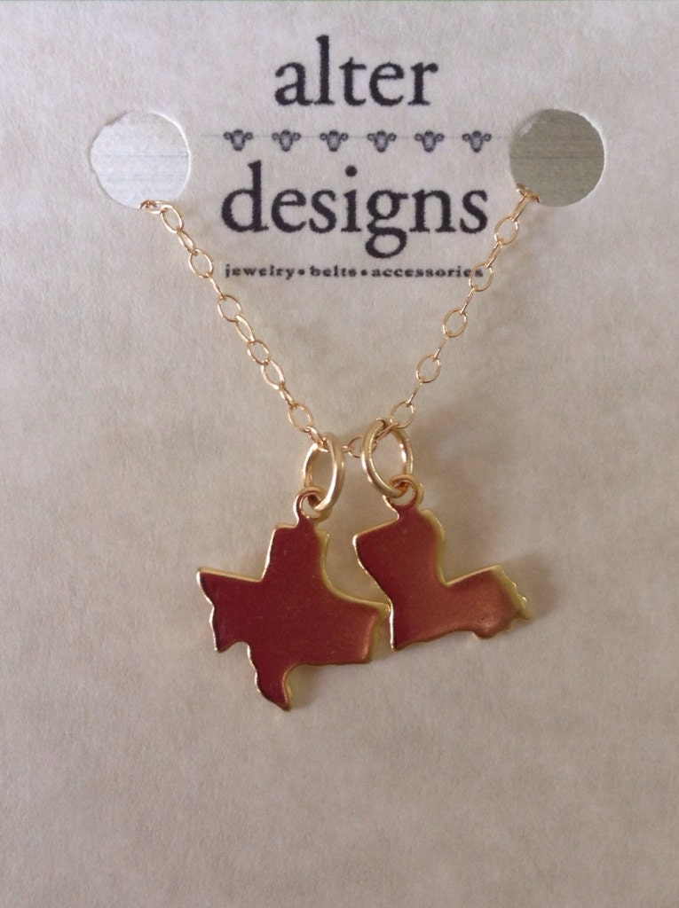three state necklace 3 charm necklace blank friendship