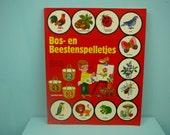 rare vintage 70s children's book by Gérard & Alain Gree , bos en beestenspelletjes