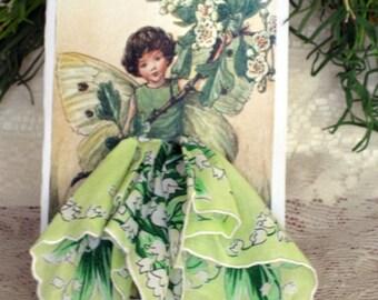 The May Fairy Keepsake Hanky Card