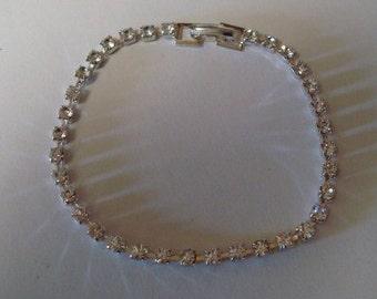 Beautiful Vintage New Stock Rhinestone Bracelet Lot 91