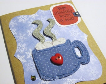 Thinking of You Card, Handmade Greeting Card, Friendship Card