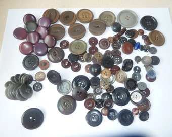 Clearance of Nice Pile of Assorted VIntage Buttons