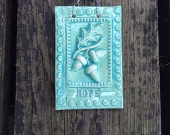 The Hope Acorn Tile in Turquoise