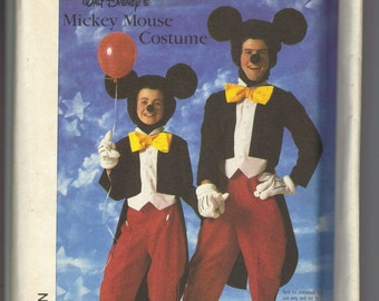 Simplicity  7729 Mens Mickey Mouse Costume Sewing Pattern Uncut Size Medium