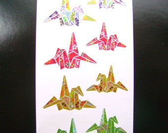 Traditional Japanese Stickers - Origami Cranes - Crane Stickers -  (S69)