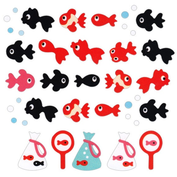 Beautiful Japanese Stickers Fish S171