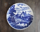 Colbalt Blue Made in Japan Decorative plate