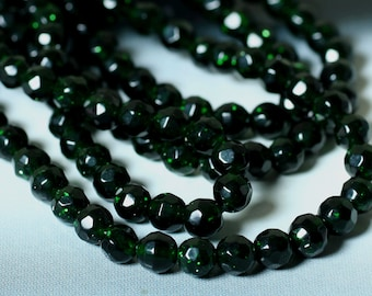 Green gold stone faceted round 4mm, 36 pcs (item ID L04GGSFR4)