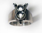 V8 Wrench Emblem Ring in Sterling Silver