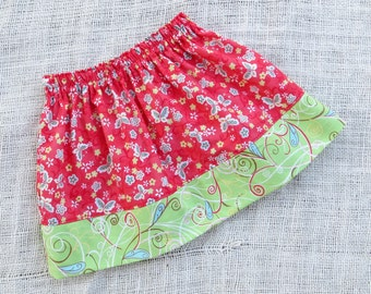 Sizes 6/12mo-7yrs  - SWIRLING BUTTERFLIES Simple Skirt- Boutique Girls Skirt