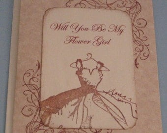 Will You Be My Flower Girl  Wedding Day Card