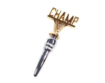 CHAMP Trophy Wine Bottle Stopper (Stainless Steel Base)