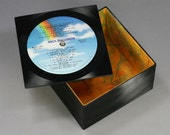 Groovy Little Box with a Lid - Handmade from Recycled Record American Graffiti