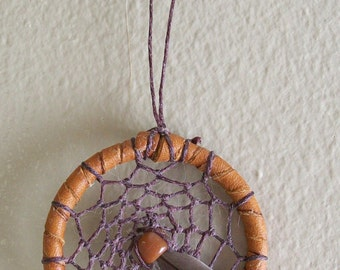 """2"""" dreamcather brown with brown web"""