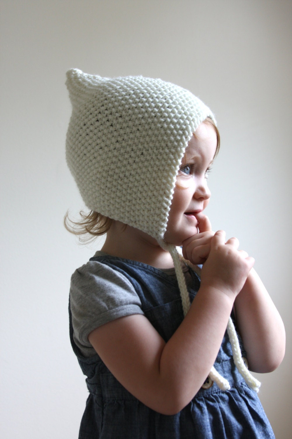 KNITTING PATTERN PDF File Knit Pixie Bonnet Pattern Baby