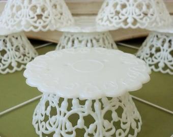 DIY / Modern Vintage / Wedding Cake Topper Pedestals / Cupcakes / One Dozen