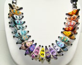 Puffy Triangle Delica Beaded Necklace Wow Colors and Design