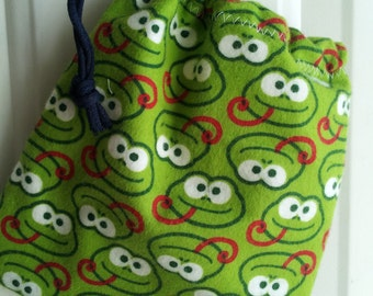 funny frongs small toy drawstring tote bag