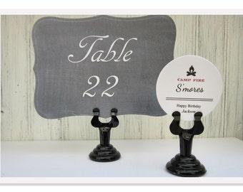 Table Number Holder, Black Sign Stand, Bakery Food Sign Holder
