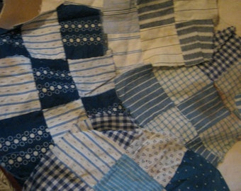 DESTASH  Lot Quilt Pieces Squares Hand Pieced Feed Sack Fabric FREE SHIPPING