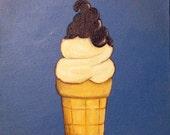 Ice Cream Cone Original 10X10