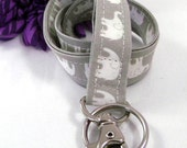 Grey Elephant Fabric Lanyard