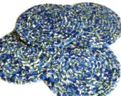Blueberry Coaster Set of 4 - Fabric Coiled