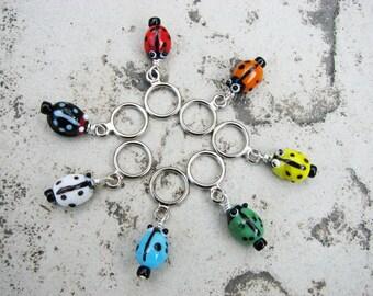 Ladybug Non-Snag Stitch Markers