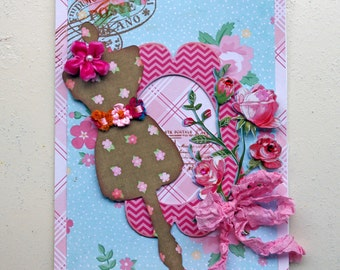 Mannequin Shabby Style Greeting Card